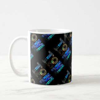 The Name Tom -  Name in Lights (Photograph) Coffee Mug