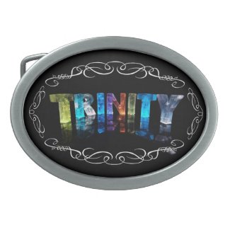 The Name Trinity - Name in Lights (Photograph) Belt Buckle