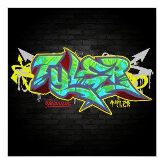 The name Tyler in graffiti Poster