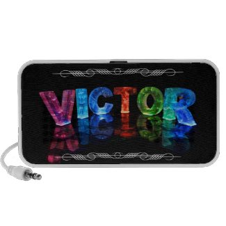 The Name Victor - Name in Lights (Photograph) Notebook Speaker
