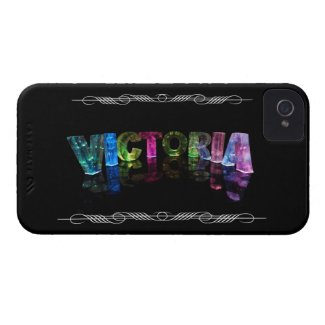 The Name Victoria - Name in Lights (Photograph) iPhone 4 Case