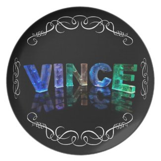 The Name Vince - Name in Lights (Photograph) Plates