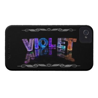 The Name Violet - Name in Lights (Photograph) Case-Mate iPhone 4 Cases