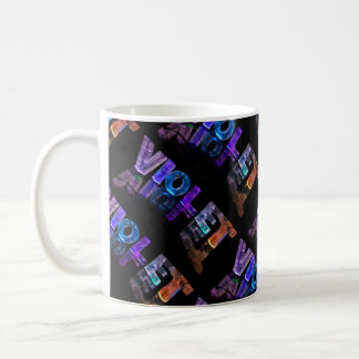 The Name Violet -  Name in Lights (Photograph) Coffee Mug