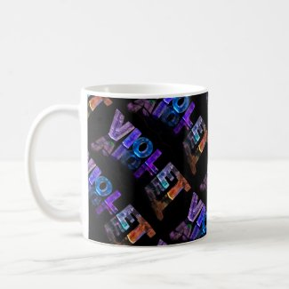 The Name Violet - Name in Lights (Photograph) Coffee Mug
