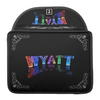 The Name Wyatt - Name in Lights (Photograph) Sleeve For MacBooks