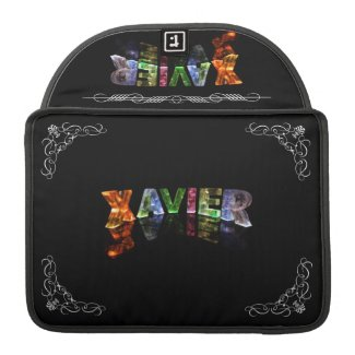 The Name Xavier - Name in Lights (Photograph) MacBook Pro Sleeve