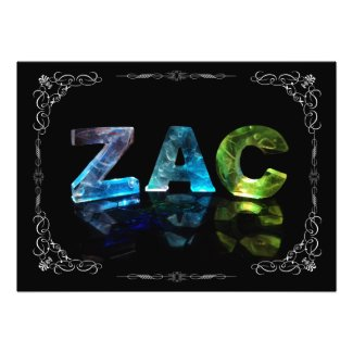 The Name Zac - Name in Lights (Photograph)