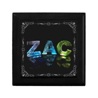 The Name Zac - Name in Lights (Photograph) Jewelry Box