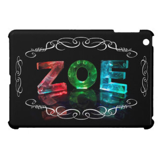 The Name Zoe -  Name in Lights (Photograph) Cover For The iPad Mini