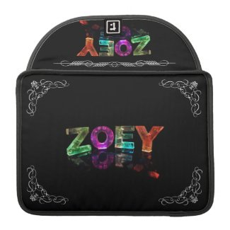 The Name Zoey - Name in Lights (Photograph) Sleeve For MacBooks