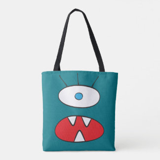 The Nameless Beast - All-Over-Print Tote Turquoise