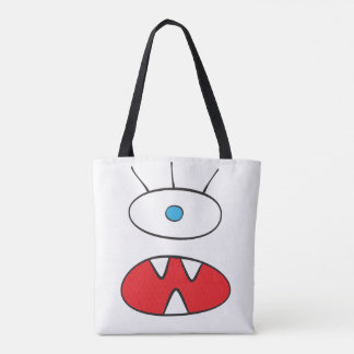 The Nameless Beast - All-Over-Print Tote White