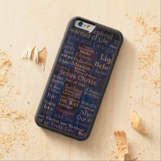 The Names of Jesus Christ blue cross art Carved Cherry iPhone 6 Bumper Case