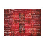 The Names of Jesus Christ From the Bible ART Canvas Prints
