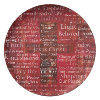 The Names of Jesus Christ From the Bible Plate