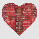 The Names of Jesus Christ From the Bible Sticker