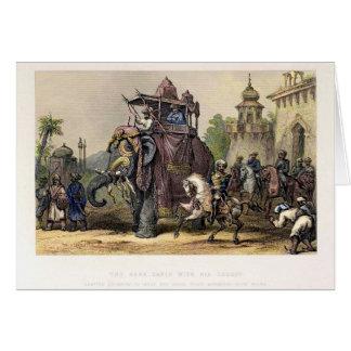 The Nana Sahib and Elephant Card