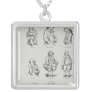 The Narrative and Critical History of America Silver Plated Necklace
