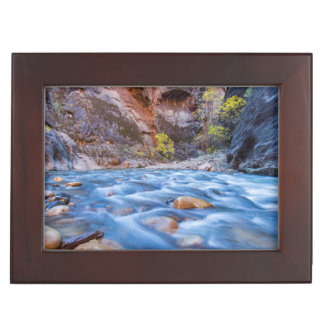 The Narrows Of The Virgin River In Autumn 3 Keepsake Box