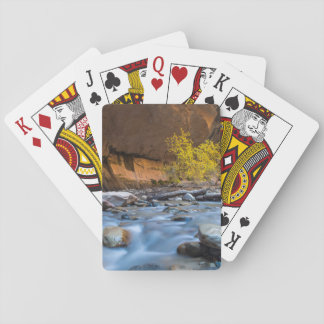 The Narrows Of The Virgin River In Autumn Playing Cards
