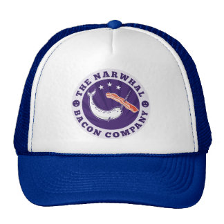 the narwhal whale bacon company hats