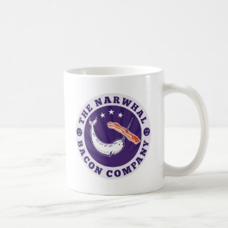 the narwhal whale bacon company coffee mug
