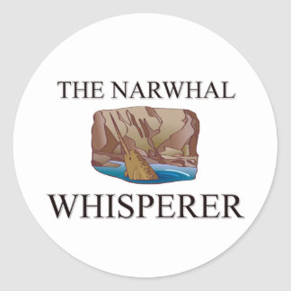 The Narwhal Whisperer Classic Round Sticker