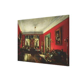 The Nashchokin family in drawing room Canvas Print
