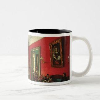 The Nashchokin family in drawing room Two-Tone Coffee Mug