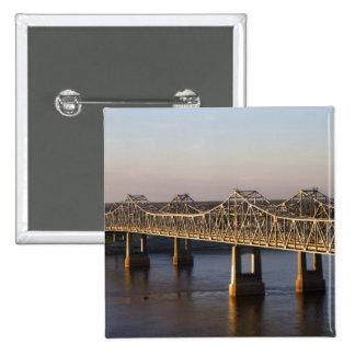 The Natchez-Vidalia Bridges spanning the 15 Cm Square Badge