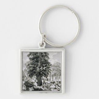 The Nation is at War and Must Have Men Silver-Colored Square Key Ring