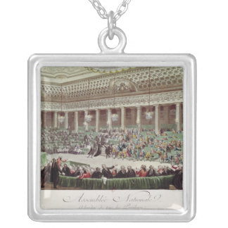 The National Assembly Renounces all Privileges Silver Plated Necklace