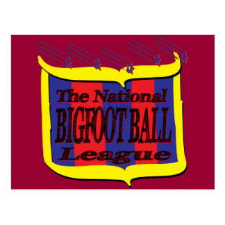 The National BIGFOOT BALL League Star Shield Postcard
