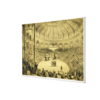 The National Circus, published by Auguste Bry (lit Stretched Canvas Print