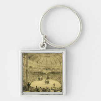 The National Circus, published by Auguste Bry (lit Silver-Colored Square Key Ring