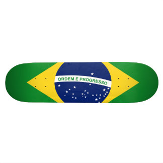 The national flag Federative Republic of Brazil 21.6 Cm Old School Skateboard Deck
