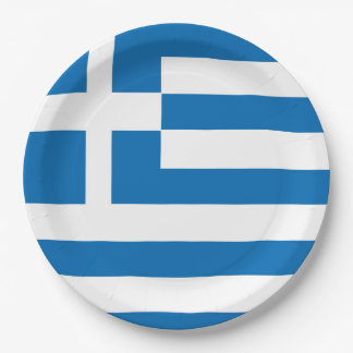 The National flag of Greece Paper Plate