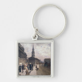 The National Gallery, London Silver-Colored Square Key Ring