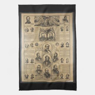 The National Political Chart (1869) Tea Towel