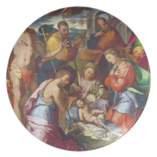 The Nativity, 1534 (oil on panel) Plate