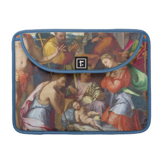 The Nativity, 1534 (oil on panel) Sleeve For MacBook Pro