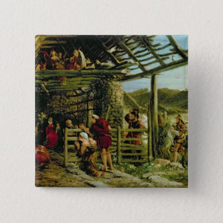 The Nativity 15 Cm Square Badge