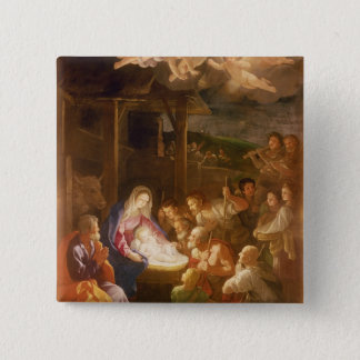 The Nativity at Night, 1640 15 Cm Square Badge