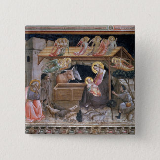 The Nativity, detail from The life of the Virgin a 15 Cm Square Badge