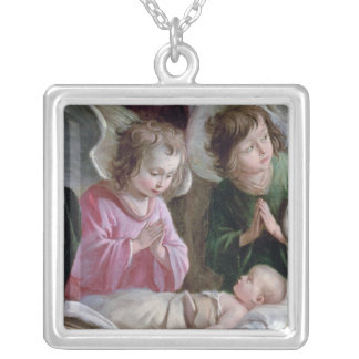 The Nativity, from the Buxtehude Altar, 1400-10 Silver Plated Necklace