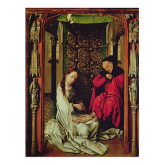 The Nativity, left wing of a triptych, c.1496 Postcard
