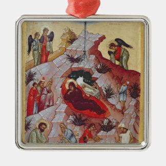 The Nativity, Russian icon, 16th century Christmas Ornament