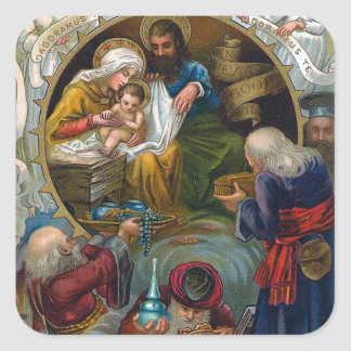 The Nativity Square Stickers