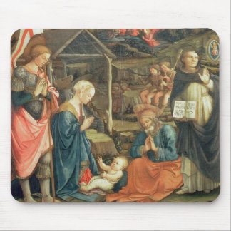 The Nativity with SS. Michael and Dominic, 1470 (t Mouse Mat